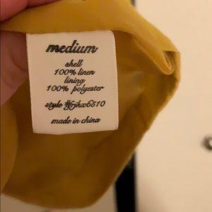 miami Jackets & Coats - Never worn mustard linen blazer